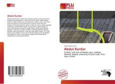 Capa do livro de Abdul Kardar