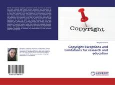 Обложка Copyright Exceptions and Limitations for research and education