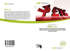 Bookcover of MBIA, Inc.