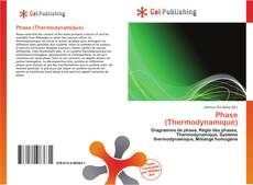 Phase (Thermodynamique) kitap kapağı