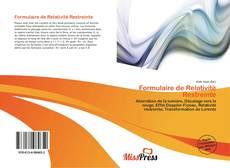 Bookcover of Formulaire de Relativité Restreinte