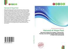 Harvest of Hope Fest kitap kapağı