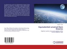Bookcover of Equivalential unversal Horn theories
