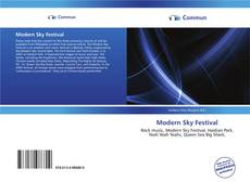 Bookcover of Modern Sky Festival