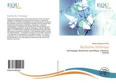 Bookcover of Recherche Technique
