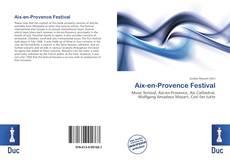 Aix-en-Provence Festival kitap kapağı