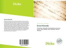 Ernst Krenek kitap kapağı