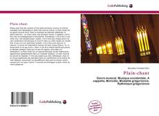 Bookcover of Plain-chant