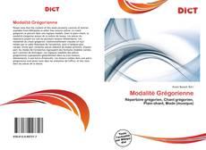 Bookcover of Modalité Grégorienne