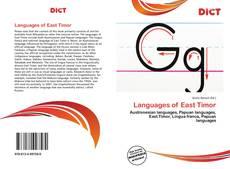 Обложка Languages of East Timor