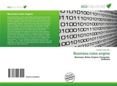 Portada del libro de Business rules engine