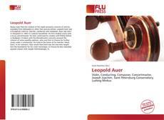 Capa do livro de Leopold Auer