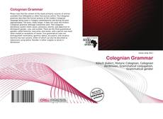 Bookcover of Colognian Grammar