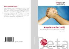Bookcover of Royal Rumble (2003)