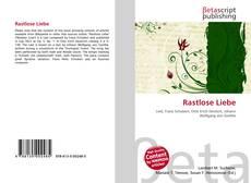 Capa do livro de Rastlose Liebe