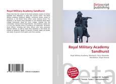 Bookcover of Royal Military Academy Sandhurst