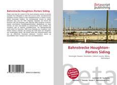 Bookcover of Bahnstrecke Houghton–Porters Siding