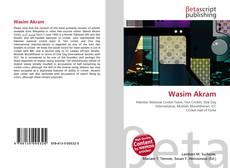 Portada del libro de Wasim Akram