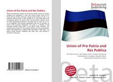 Capa do livro de Union of Pro Patria and Res Publica