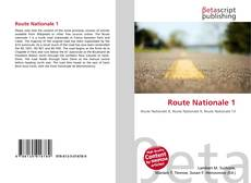 Bookcover of Route Nationale 1