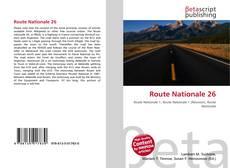 Buchcover von Route Nationale 26