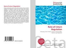 Bookcover of Rate-of-return Regulation
