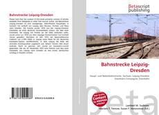 Capa do livro de Bahnstrecke Leipzig-Dresden