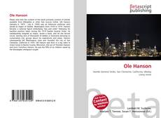 Bookcover of Ole Hanson
