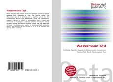 Обложка Wassermann Test