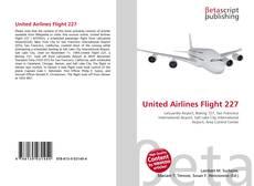 Capa do livro de United Airlines Flight 227