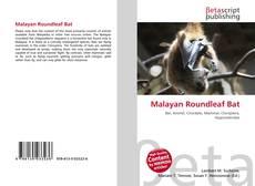 Buchcover von Malayan Roundleaf Bat