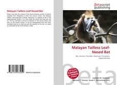 Buchcover von Malayan Tailless Leaf-Nosed Bat