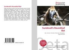 Bookcover of Sundevall's Roundleaf Bat