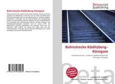 Capa do livro de Bahnstrecke Köditzberg–Königsee