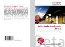 Bahnstrecke Landquart–Thusis的封面