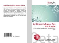 Bookcover of Rathinam College of Arts and Science