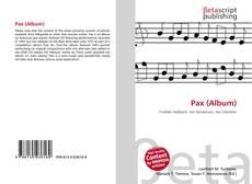 Bookcover of Pax (Album)