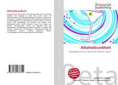 Alkoholkrankheit kitap kapağı