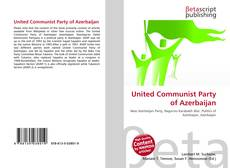 Bookcover of United Communist Party of Azerbaijan