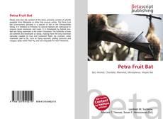 Buchcover von Petra Fruit Bat