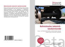 Bookcover of Bahnstrecke Jatznick–Ueckermünde