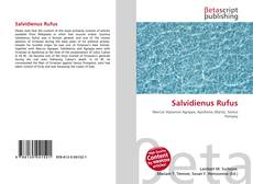 Bookcover of Salvidienus Rufus