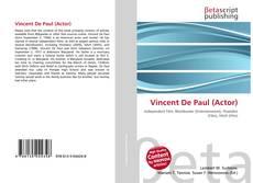 Couverture de Vincent De Paul (Actor)