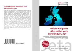 United Kingdom Alternative Vote Referendum, 2011 kitap kapağı