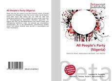 Buchcover von All People's Party (Nigeria)