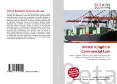 Bookcover of United Kingdom Commercial Law