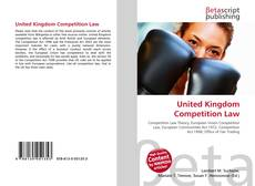 Bookcover of United Kingdom Competition Law