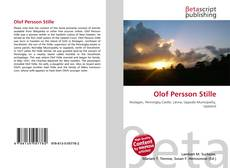 Bookcover of Olof Persson Stille