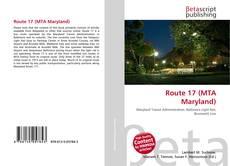 Capa do livro de Route 17 (MTA Maryland)