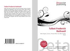 Bookcover of Talbot Frederick Rothwell